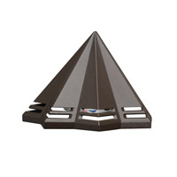 Kichler 16113AZT30 Signature 15V 2.5 watt Textured Architectural Bronze Deck Light in 3000K
