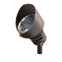 Kichler 16208AZT30 Landscape 12V LED 120V 29 watt Textured Architectural Bronze Landscape Accent Light in 3000K