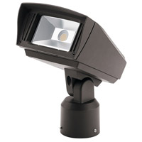 Kichler 16221AZT30SL C-Series 120-277V 10 watt Textured Architectural Bronze Outdoor Flood Light, Small