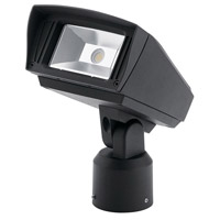 C-Series 120-277V 10 watt Textured Black Outdoor Flood Light, Small