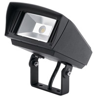 Kichler 16221BKT40TR C-Series 120-277V 10 watt Textured Black Outdoor Flood Light, Small