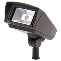 Kichler 16222AZT40 C-Series 120-277V 23 watt Textured Architectural Bronze Outdoor Flood Light, Small