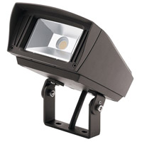 Kichler 16222AZT40TR C-Series 120-277V 23 watt Textured Architectural Bronze Outdoor Flood Light, Small