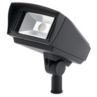 C-Series 120-277V 23 watt Textured Black Outdoor Flood Light, Small