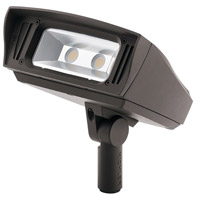 Kichler 16223AZT40 C-Series 120-277V 33.5 watt Textured Architectural Bronze Outdoor Flood Light, Medium
