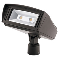 Kichler 16225AZT40SL C-series 120-277V 85 watt Textured Architectural Bronze Outdoor Flood Light Large