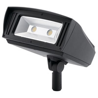 C-Series 120-277V 85 watt Textured Black Outdoor Flood Light, Large