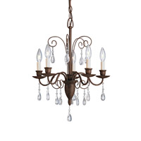 Kichler Lighting Barcelona 5 Light Chandelier in Tannery Bronze 1631TZ photo thumbnail