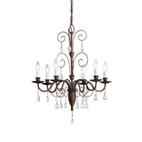 Kichler Lighting Barcelona 6 Light Chandelier in Tannery Bronze 1632TZ