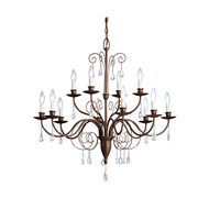 Kichler Lighting Barcelona 12 Light Chandelier in Tannery Bronze 1633TZ