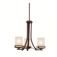 Kichler 1671OZ Hendrik 3 Light 19 inch Olde Bronze Chandelier Ceiling Light