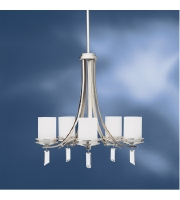 Kichler Lighting Hendrik 5 Light Chandelier in Brushed Nickel 1672NI