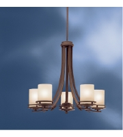 Kichler 1672OZ Hendrik 5 Light 25 inch Olde Bronze Chandelier Ceiling Light alternative photo thumbnail