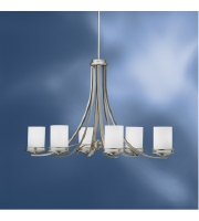 Kichler Lighting Hendrik 6 Light Chandelier in Brushed Nickel 1673NI