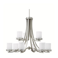 Kichler 1674NI Hendrik 9 Light 33 inch Brushed Nickel Chandelier Ceiling Light