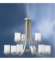 Kichler 1674NI Hendrik 9 Light 33 inch Brushed Nickel Chandelier Ceiling Light alternative photo thumbnail