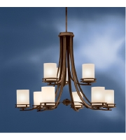 Kichler Lighting Hendrik 9 Light Chandelier in Olde Bronze 1674OZ alternative photo thumbnail