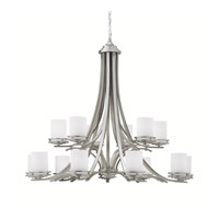 Kichler 1675NI Hendrik 15 Light 42 inch Brushed Nickel Chandelier Ceiling Light