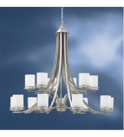 Kichler 1675NI Hendrik 15 Light 42 inch Brushed Nickel Chandelier Ceiling Light alternative photo thumbnail