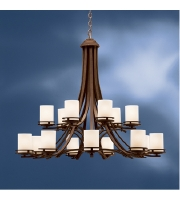 Kichler Lighting Hendrik 15 Light Chandelier in Olde Bronze 1675OZ alternative photo thumbnail