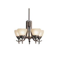 Kichler Lighting Olympia 5 Light Mini Chandelier in Olde Bronze 1678OZ photo thumbnail