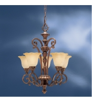 Kichler Lighting Cheswick 5 Light Mini Chandelier in Parisian Bronze 1696PRZ alternative photo thumbnail
