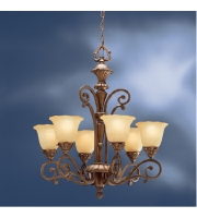Kichler Lighting Cheswick 6 Light Chandelier in Parisian Bronze 1697PRZ