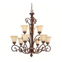 Kichler Lighting Cheswick 9 Light Chandelier in Parisian Bronze 1698PRZ photo thumbnail