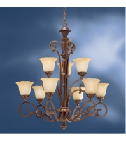 Kichler Lighting Cheswick 9 Light Chandelier in Parisian Bronze 1698PRZ alternative photo thumbnail