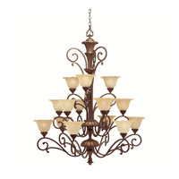 Kichler Lighting Cheswick 15 Light Chandelier in Parisian Bronze 1700PRZ photo thumbnail