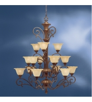 Kichler Lighting Cheswick 15 Light Chandelier in Parisian Bronze 1700PRZ alternative photo thumbnail