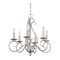 Kichler Lighting Norwich 6 Light Chandelier in Brushed Nickel 1713NI photo thumbnail