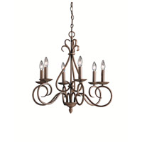 Kichler Lighting Norwich 6 Light Chandelier in Tannery Bronze 1713TZ