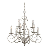 Kichler Lighting Norwich 9 Light Chandelier in Brushed Nickel 1714NI photo thumbnail