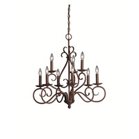 Kichler Lighting Norwich 9 Light Chandelier in Tannery Bronze 1714TZ photo thumbnail