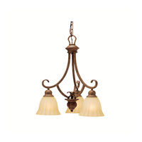 Kichler Lighting Northam 3 Light Chandelier in Lincoln Bronze 1723LBZ photo thumbnail