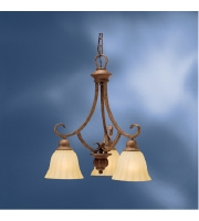 Kichler Lighting Northam 3 Light Chandelier in Lincoln Bronze 1723LBZ alternative photo thumbnail