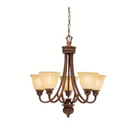 Kichler Lighting Northam 5 Light Chandelier in Lincoln Bronze 1724LBZ photo thumbnail
