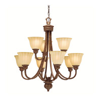 Kichler Lighting Northam 9 Light Chandelier in Lincoln Bronze 1725LBZ photo thumbnail