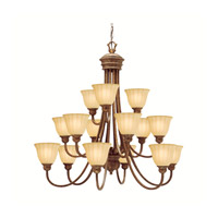 Kichler Lighting Northam 15 Light Chandelier in Lincoln Bronze 1726LBZ photo thumbnail