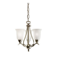 Kichler Lighting Dover 3 Light Mini Chandelier in Brushed Nickel 1731NI