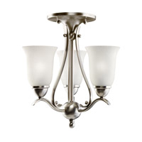 Kichler Lighting Dover 3 Light Mini Chandelier in Brushed Nickel 1731NI alternative photo thumbnail
