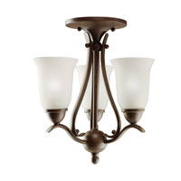 Kichler Lighting Dover 3 Light Mini Chandelier in Tannery Bronze 1731TZ