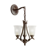 Kichler Lighting Dover 3 Light Mini Chandelier in Tannery Bronze 1731TZ alternative photo thumbnail