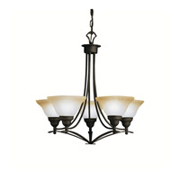 Kichler Lighting Pomeroy 5 Light Chandelier in Distressed Black 1744DBK photo thumbnail
