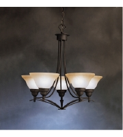 Kichler Lighting Pomeroy 5 Light Chandelier in Distressed Black 1744DBK alternative photo thumbnail