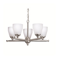 Ansonia 5 Light 22 inch Brushed Nickel Chandelier Ceiling Light