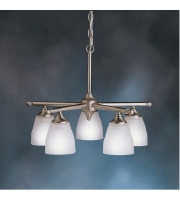 Kichler 1748NI Ansonia 5 Light 22 inch Brushed Nickel Chandelier Ceiling Light alternative photo thumbnail