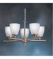 Kichler Lighting Ansonia 5 Light Chandelier in Brushed Nickel 1748NI