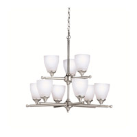 Kichler Lighting Ansonia 9 Light Chandelier in Brushed Nickel 1749NI